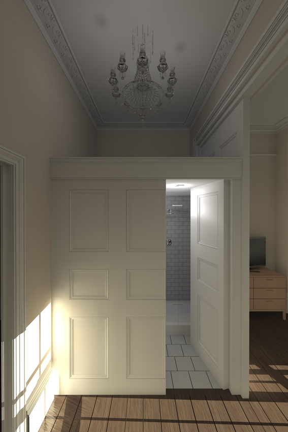 joinery, listed building, shower room