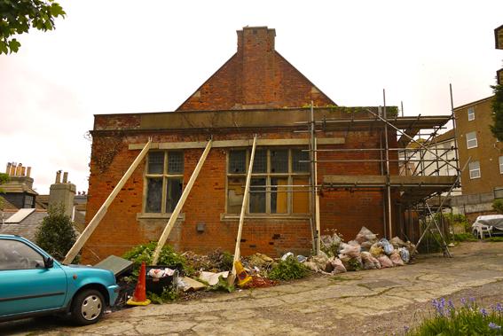 refurbishment, propping, brickwork, stonework, st marys hall