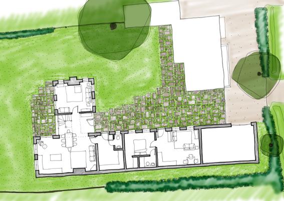 john mccart architect, country house, site plan, landscape design, wealden