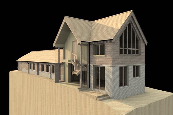 john mccart architect, country house, site model, wealden