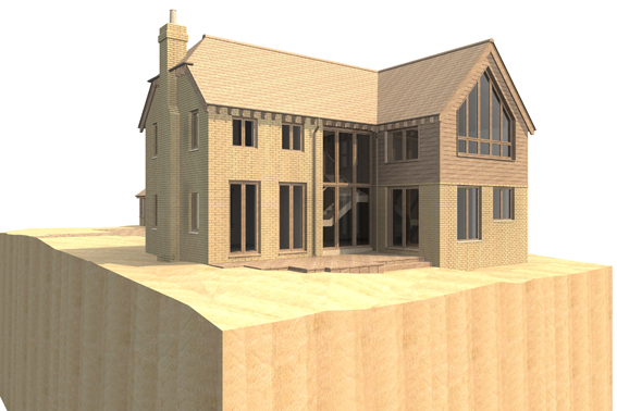 john mccart architect, country house, site model