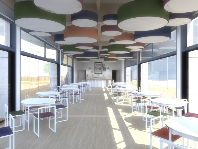 seaside, lido, restaurant, cafe, interior