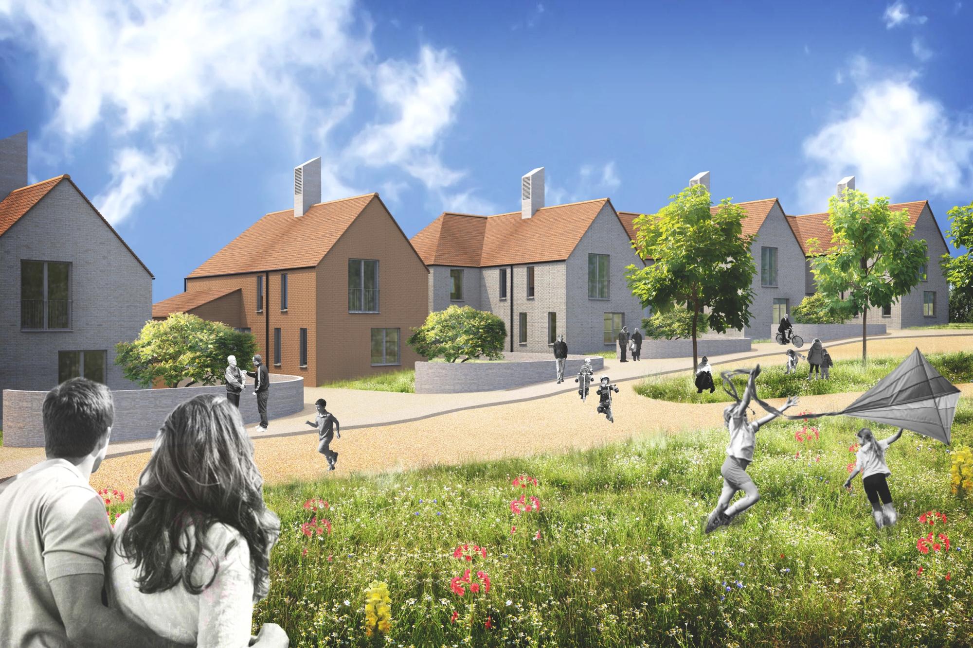 residential, detached homes, landscape, daytime render, artlantis, vectorworks, ancient woodland