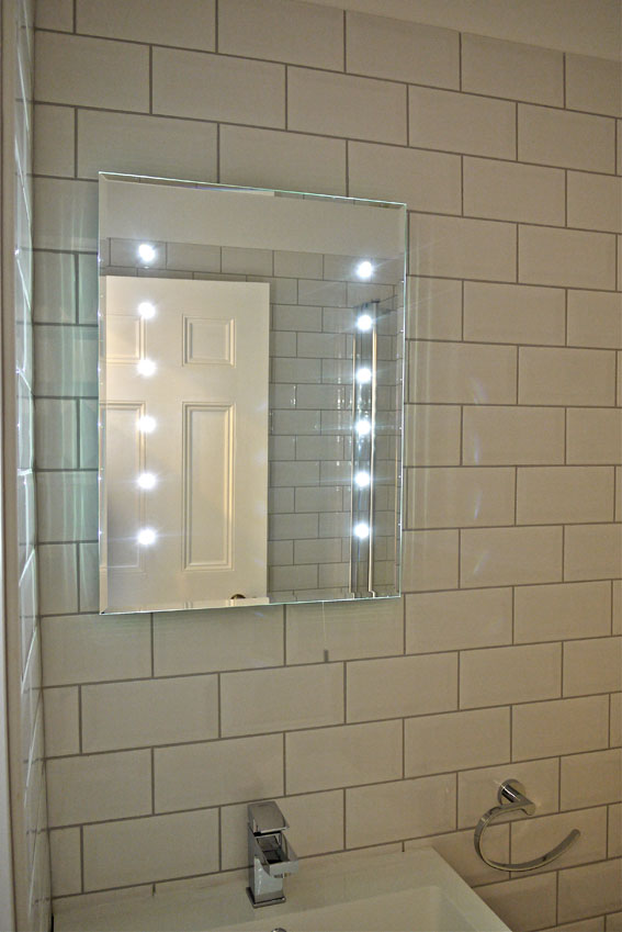 led mirror, metro tile