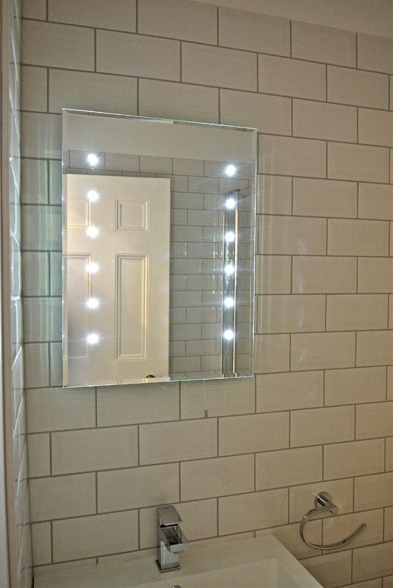 led mirror, metro tile